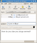 Compose blog posts via Spicebird email